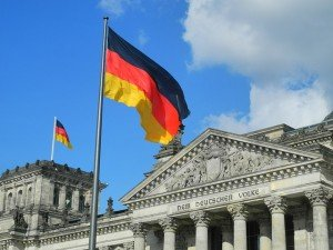 Private Investigator Germany , Reichstag in Berlin with German flag.